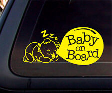 """Baby on Board"" Pooh Bear Car Decal/Sticker-yellow"