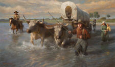 Morgan Weistling CROSSING THE CHEYENNE RIVER, SUMMER 1850, giclee paper #150/150