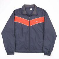 Vintage NIKE Navy Blue Mesh Zip Up Lightweight Track Jacket Mens Size Large