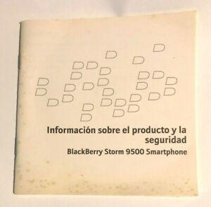 BLACKBERRY STORM 9500 SMARTPHONE - ORIGINAL OWNER'S MANUAL SPANISH VERSION