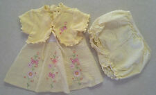 NWOT Girl's Sz 3-6 M Months 2 Piece Set Yellow Floral Butterfly Dress & Bloomer