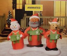 6ft Animated Inflatable African American Black Santa Snowman Gospel Airblown NEW