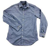 Banana Republic Non Iron Tailored Slim Fit Mens Medium Gray Blue L/S Shirt