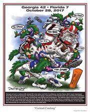 "Georgia Bulldogs Football Dave Helwig ""Cocktail Crushing""artwork Sony Michel UGA"