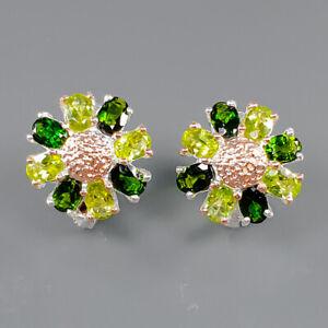 Jewelry Art Design Peridot Earrings Silver 925 Sterling   /E51669