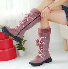 Womens US chic mid calf boots winter snow boots fast shipping shoes size 4.5-8.5