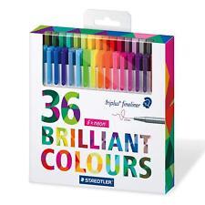 STAEDTLER TRIPLUS FINELINER - 36 Brilliant Colours Gift Set