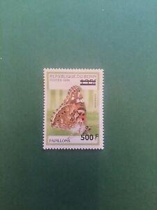 Bénin surchargé overprint Papillon 500f sur 135f neuf MNH frappe B