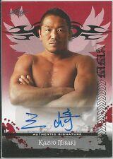 Kazuo Misaki 2010 Leaf MMA Red Autographs Card # AUKM1 UFC