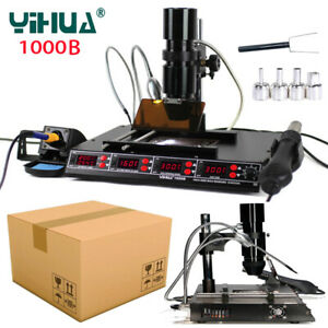 220V Infrared 1000B BGA Rework Station SMD Hot Air Gun Preheating Soldering Iron
