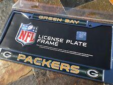 "1 Green Bay Packers ""Glitter - Bling"" Metal Vehicle License Plate Frame"