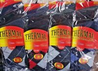 Argyle Men Thermal Socks Warm Winter Work Boot Socks Wholesale Multi Listing...