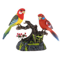 Kids Chirping Dancing Parrots Voice Sound Activated Singing Moving Birds Toy