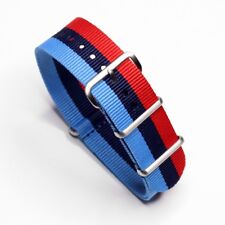 Durable 22mm One-Piece BMW MSport Inspired Racing Colors Strap Nylon Watch Band