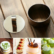 Round Stainless Steel Mousse Cake Ring Mold Cupcake Mould DIY Baking