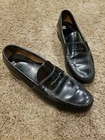 Cole Haan mens black leather loafers slip on dress shoes #6485 size 12 a narrow
