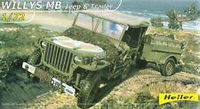 Heller 1/72 (20mm) US Willys Jeep & Trailer
