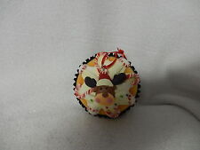 CHRISTMAS VANILLA CLAYDOUGH FOAM CUPCAKE ORNAMENT-REINDEER-NEW-KURT ADLER