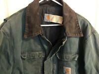 Carhartt Jacket Canvas Coat Men's XL X-Large Green