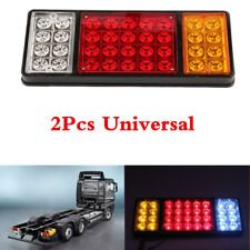 Waterproof 2 Pcs 36 LED Rear Trailer Tail Lights Truck Boat Car Indicator Lamp