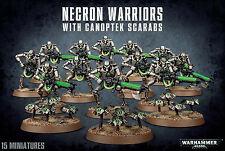 Necron Warriors with Canoptek Scarabs Necrons Warhammer 40k NEW