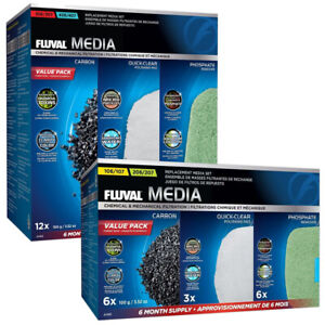 Fluval External Filter Media Value Packs 107 207 307 407 Aquarium Fish Tank
