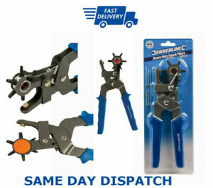 Revolving Leather Hole Punch Pliers Puncher Leather Cut Belt Eyelet 6 Sizes Tool