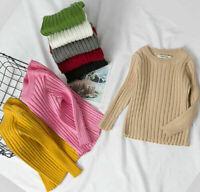 Girls Boys Top Sweater Knitted Warm Autumn Winter Long Sleeve School 2-7 years