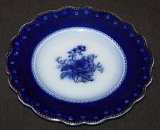 Vintage FLOW BLUE Blue Rose GRINDLEY Plate
