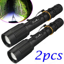 2PCS Ultrafire 90000 Lumens T6 5-mode Zoomable LED Flashlight 18650 Torch Light