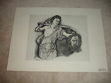 Lot of 5 Paul Nabb Signed and Numbered Litho Prints 1969 with Original Folder