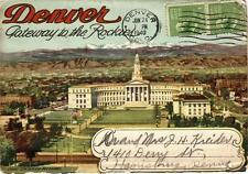 Vintage Souvenir Photo Folder - DENVER Gateway to the Rockies - Postmarked 1940