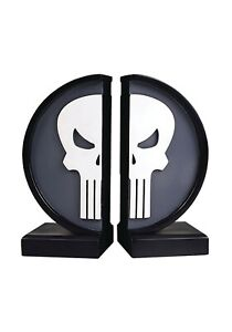 Marvel The Punisher Logo Bookends Gentle Giant Statue New In Box