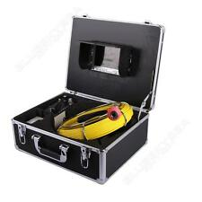 "20M Sewer Waterproof Video Camera 7"" LCD Screen Drain Pipe Inspection DVR 12 Led"