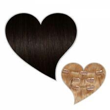 Extensiones de Clip 90 Gramos 40CM Moreno #1b Cabello Natural Haar-Set con Clips