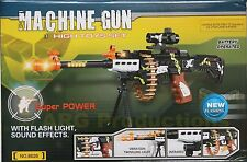 SWAT RIFLE ASSAULT MACHINE GUN TOY FX REALISTIC LOUD SOUNDS LIGHTS BULLETS