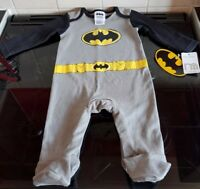 Mothercare Batman Longsleeved Baby Grow - 3-6 Months - BRAND NEW WITH TAGS