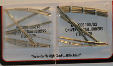 Atlas HO Scale Code 100 Nickel Silver Rail Joiners 2Pk NEW 170