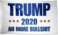 Trump 2020 Flag No More BS 3x5 Feet MAGA Flag Banner BullShit Blue Flag