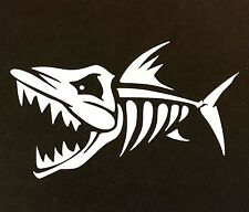 SKELETON FISH SCARY DECAL STICKER CAR TRUCK CHEVY FORD HONDA VW DODGE MAZDA JDM