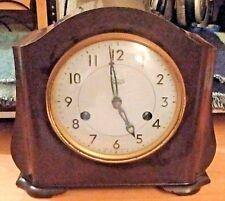 Art Deco Smith's Enfield 8 Day Bakelite Mantel Clock (Works Fine But Needs Key)