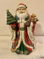 Jolly Ole St. Nick Santa Claus Music Box Porcelain Ceramic Figurine