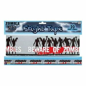 Halloween Zombie Fright Warning Tape Party Banner Decoration 20ft Prop