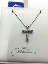 Collier Oro Bianco DIAMANTI FANTASIA MILUNA CLD519 collana necklace gold 11 PT