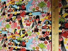 Trans-Pacific Textiles my-14-130_beige Geisha Anime COTTON FABRIC  BTY