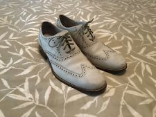 COLE HAAN Air Mens Nubuck Leather Off White Wingtips Shoes Sz 10 Retail $225