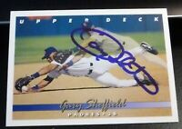 Gary Sheffield SIGNED 1993 Upper Deck #222 San Diego Padres AUTOGRAPH Yankees