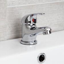 Bathroom Basin Sink Monobloc Mixer Tap Chrome Finish Curved Modern Single Lever