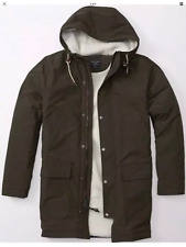 NWT Abercrombie & Fitch Mens Olive Sherpa Cotton Parka Jacket Coat Medium