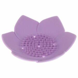 Silicone Lotus Shape Soap Holder Dish Box Plate Portable Bathroom Accessories